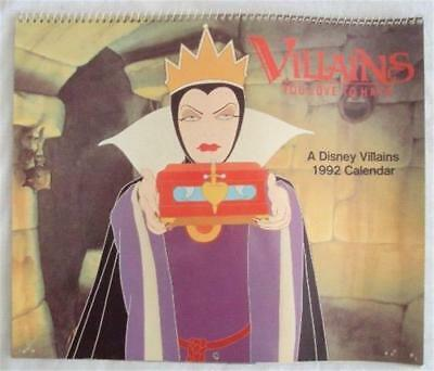 Vintage 1992 Disney VILLAINS YOU LOVE TO HATE Calendar by GIBSON