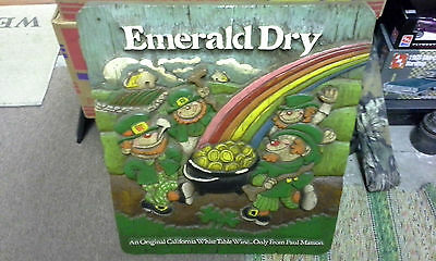 """Vintage Emerald Dry Wine by Paul Mason Advertising 21 1/4"""" High x 17 1/2"""" Wide"""