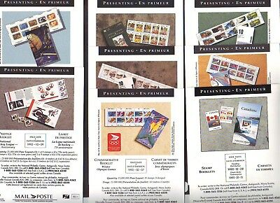 50 Different Canada Post New issue Presenting Cards