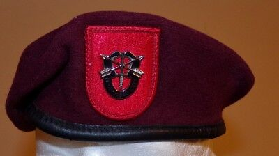 ORIGINAL US ARMY 7th SPECIAL FORCES BERET -  7 5/8