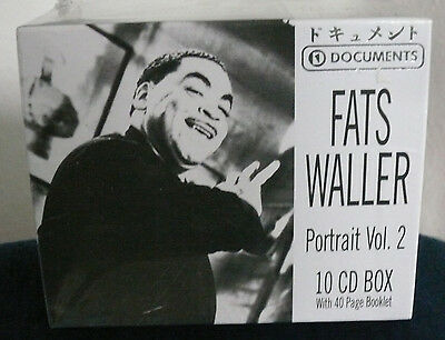 10 CD-Box * FATS WALLER - Portrait Vol. 2 * With 40 Page Booklet * 206 Tracks