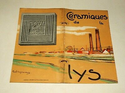 Catalogue carrelage ancien Céramique de la Lys Marcke Bij Kortrijk Lez Courtrai