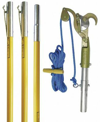 Jameson Tree Pruner, (3) 6 ft Poles, Fiberglass  Includes Rope and Pole Adapter