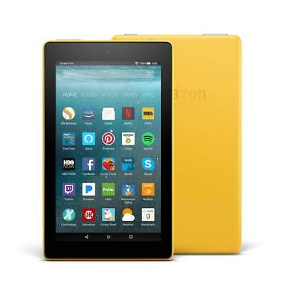 NEW AMAZON KINDLE FIRE 7 Yellow TABLET ALEXA/8GB LatestModel IPS Front/Rear Cam