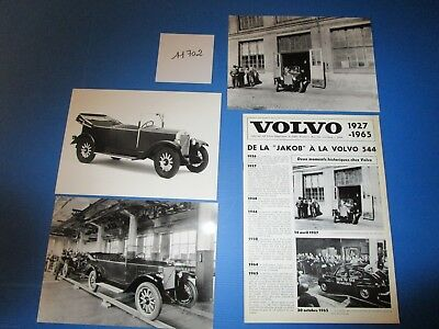N°11702 /  VOLVO plaquette 1927-1965 + 3 photos