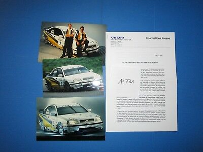 N°11731 / VOLVO informations press modéle course BTCC  juin 1997