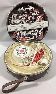 Vintage Ge General Electric Deluxe Hair Dryer W/travel And Storage Case 1964!