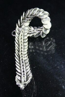 Collectable Decoration Exquisite Miao Silver Carved Dragon Head Beauty Bracelet