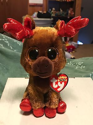 "4df519980bc Ty MAPLE -Brown Red Canadian Elk 6"" Beanie Boo!  International Exclusive"