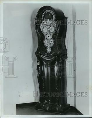 1982 Press Photo Astronomical Grandfather Clock at the Time Museum  - mja70277