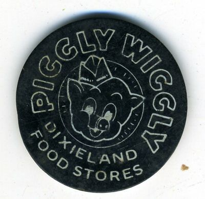 1970's Piggly Wiggly Dixieland Food Stamp Token 1 Cent