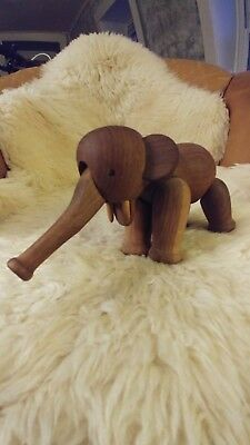KAY BOJESEN Denmark VINTAGE Mid-Century Modern Wooden Articulated ELEPHANT Toy