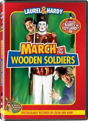 MARCH OF THE WOODEN SOLDIERS COLOR New DVD Laurel Hardy