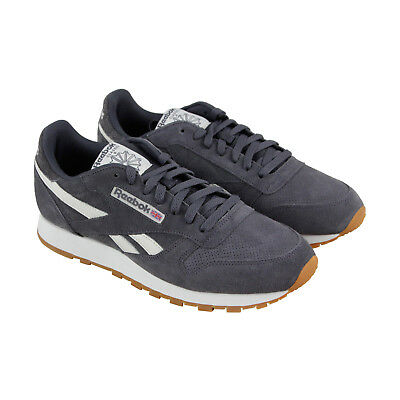 536ebb1a9bc Reebok Classic Leather Mu Mens Gray Suede Athletic Lace Up Training Shoes