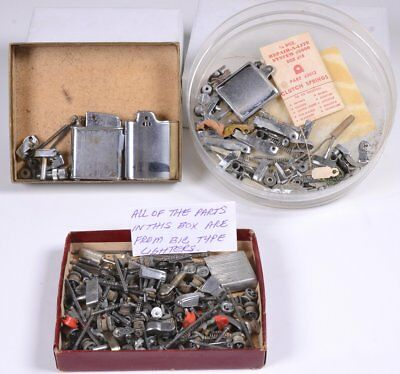 Lot of Automatic Pocket Cigarette Lighters PARTS ONLY