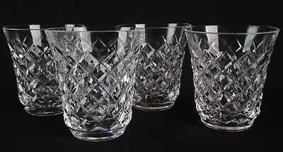 Vintage Crystal St. Louis France Tacite 4 Tumblers Juice Liquor Cocktail Glasses