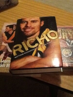 Richmond Tigers Football Club AFL VFL 2 Books And VHS Video Jack Dyer And Richo