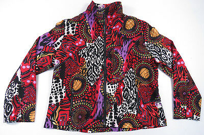 80S 90S Psychedelic Abstract All Over Print Jacket Hippie Festival Nu Vintage