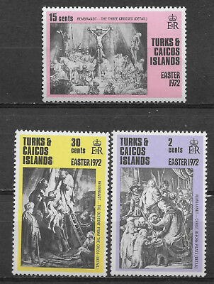Turks & Caicos Islands , 1972 , Easter  , Set Of 3 Stamps , Perf , Mnh