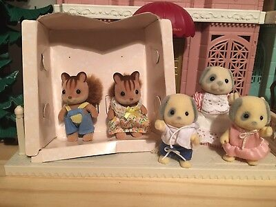 Mixed Lot Family Sylvanian Families Calico Critters Htf Dogs Squirrel