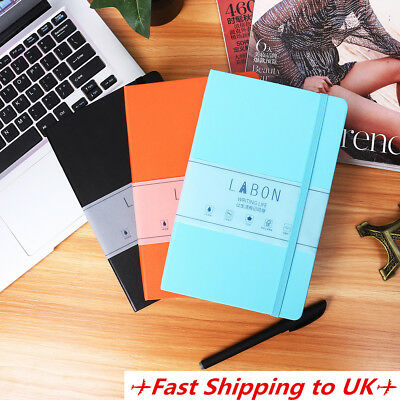 A5 Hardback Notepad Notebook Medium Dotted Grid Journal Diary Book 4 Colors