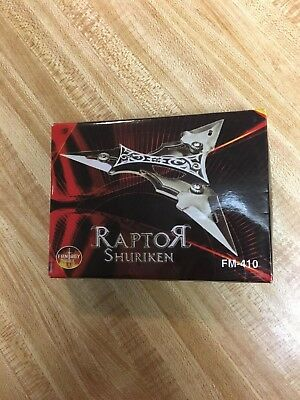 Raptor Shuriken Throwing Star with 2 Foldable Blades. FM-410