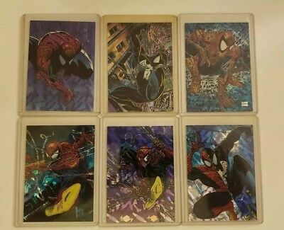 1992 Spider-Man The Mcfarlane Era Comic Images Prism Insert Card Set All 6 Cards