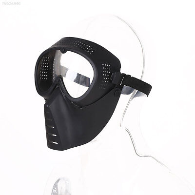 8A69 Protective Airsoft Paintball CS Game Tactical Full Face Safety Mask Black
