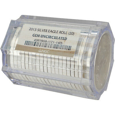Roll of 20 - 2013 American Silver Eagle - NGC Gem Uncirculated