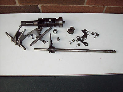 Suzuki gs650 transmission shift drum forks guides and gear select shift shaft
