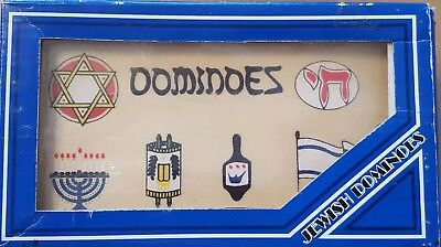 JEWISH DOMINO WOOD Pieces In Wood Box. Great For CHANUKA Gift Set