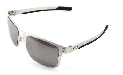 07f0ae8784 New Oakley Sunglasses Holbrook Metal Chrome w Prizm Black Polarized   4123-0955