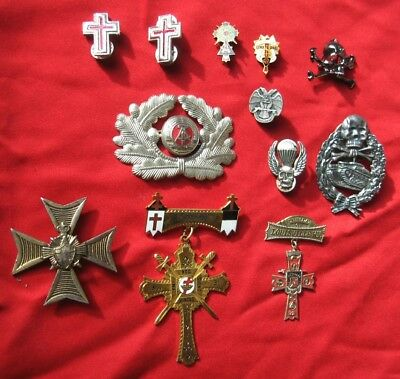 12 Vintage Masonic/NonMasonic Medals/Bages
