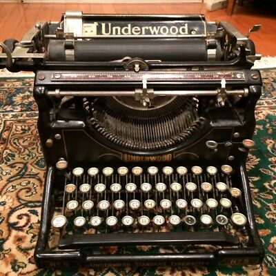 UNDERWOOD TYPEWRITER STANDARD #5 Large 1930's  Vintage Antique