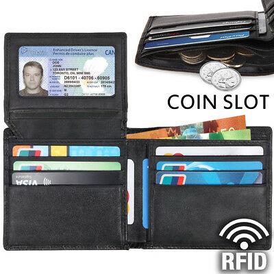 RFID Genuine Leather wallet for men, Handmade - Slim, 12 card slots, Coin Pocket
