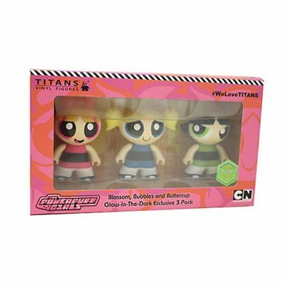 Titans Vinyl Figures Cartoon Network POWERPUFF GIRLS 3pk (GitD SDCC2018)
