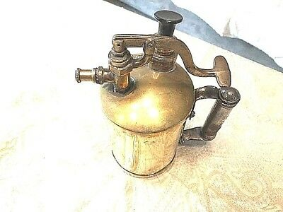 Vintage Antique Collectible Solid Brass Burmex Sprayer Tool Great Feature Piece