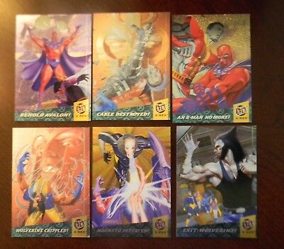 X-MEN Fleer Ultra 1994 Full Chromium Trading Chase Card Set Stan Lee