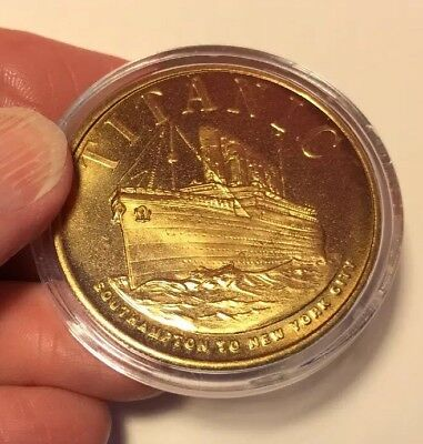 One Titanic Gold Plated Coin: Southampton to New York City