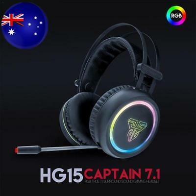 HG15 7.1 USB Headphone Channel RGB Gaming Headset With Microphone For FANTECH AU