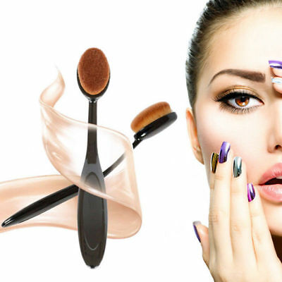 Portable Ladies 10Pcs Oval Shape Cosmetic Toothbrush Shaped Power Makeup Brushes