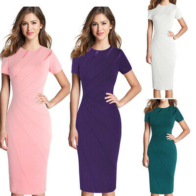 f53a39b9ee9f2 WOMENS ELEGANT VINTAGE Pinup Business Cocktail Party Bodycon Mermaid ...