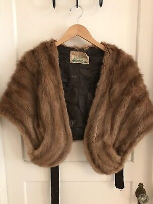 Vintage Fur Stole Shawl Cape Distinctively Dewees