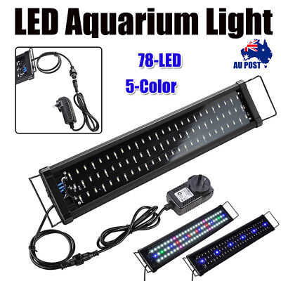60cm Aquarium LED Light Lighting Full Spectrum 3-Mode Aqua Plant Fish Tank Lamp