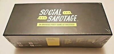 Social Sabotage Awkward Party Game Buzzfeed Media Adults 17+ NEW Double Dare Fun