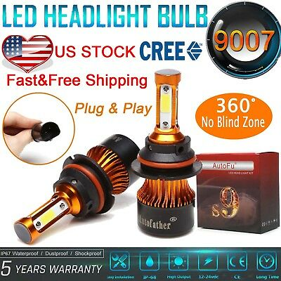 1500W 9007 HB5 LED Headlight Bulb Kit for Dodge Caravan 1996-2007 High Low Beam
