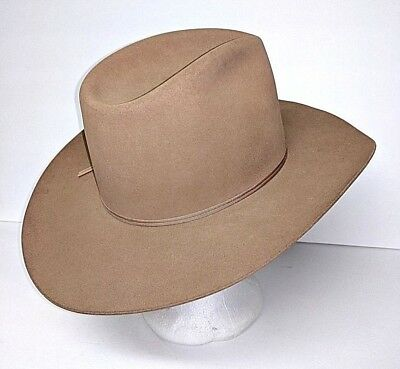 6f5f7626532 Resistol 4X Beaver Self Conforming Western Cowboy Hat Brown Size 6 3 4 Long  Oval