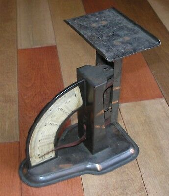 Vintage Post Office ANTIQUE 4 lb. SUPERIOR POSTAGE SCALE