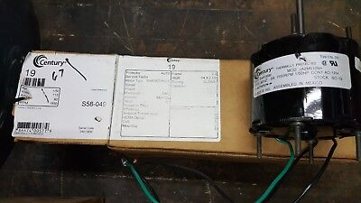 Century AO Smith 19 Blower Motor, 1/50 HP, Split-Phase, 1550 RPM, 115V