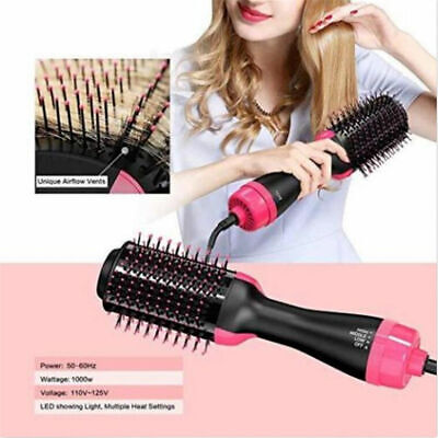 NEW Salon One-Step Hair Dryer&Volumizer Hair Comb 2 in1 Hair Straightener Curler